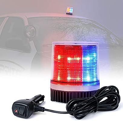 Flashing Warning Signal Light Magnet Mount 26 Red LEDs