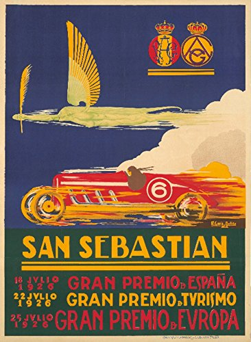 - San Sebastian Vintage Poster (artist: Bellido) Spain c. 1926 (36x54 Giclee Gallery Print, Wall Decor Travel Poster)