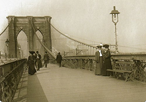 8 x 10 Old Vintage Photo Brooklyn Bridge Postcard Right After Its Opening