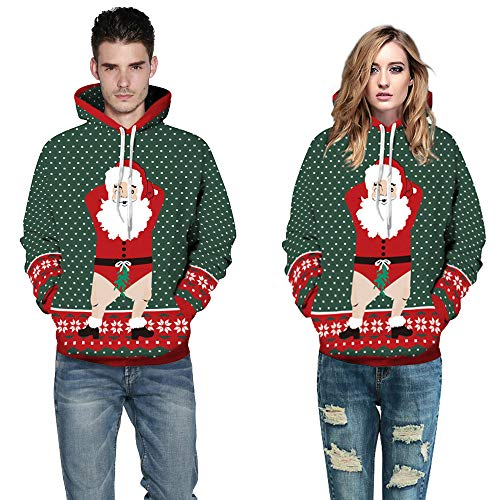Moko-PP Loves' Casual Winter Christmas Printing Long Sleeve Hoodies Sweatshirt