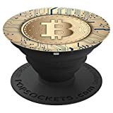 Pop Socket Bitcoin - Gold Blockchain High Tech Phone Grip - PopSockets Grip and Stand for Phones and Tablets