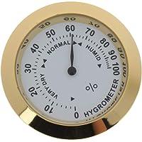 KESOTO Golden Mini Hygrometer Guitars Moisture Monitor For Hotel Home Office