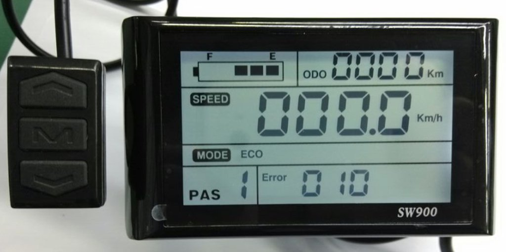 48V SW900 Electric Bicycle LCD Display Part & Accessories, used for E-bike Kit, Electric Bicycle Conversion kit.