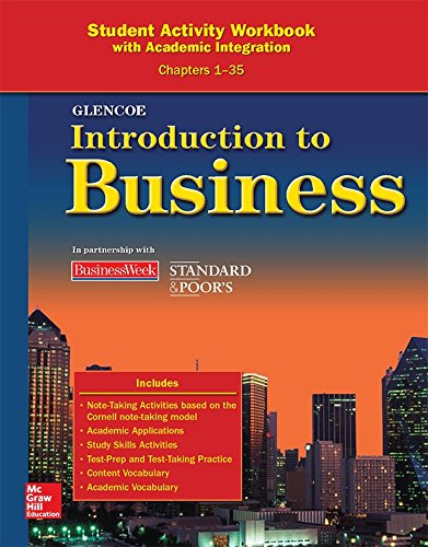 Introduction To Business, Chapters 1-35, Student Activity Workbook (BROWN: INTRO TO BUSINESS)