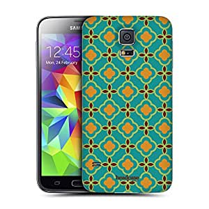 Head Case Designs Green Moroccan Patterns Replacement Battery Back Cover for Samsung Galaxy S5