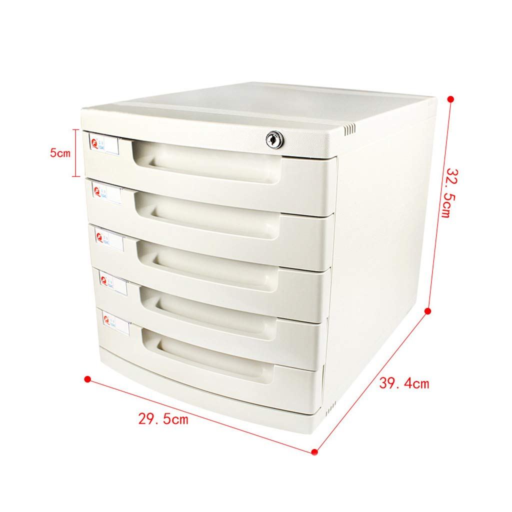 File Cabinet, Desktop Extended Drawer Office Organizer (Plastic) 29.539.432.5CM (Size : 5 Layers)