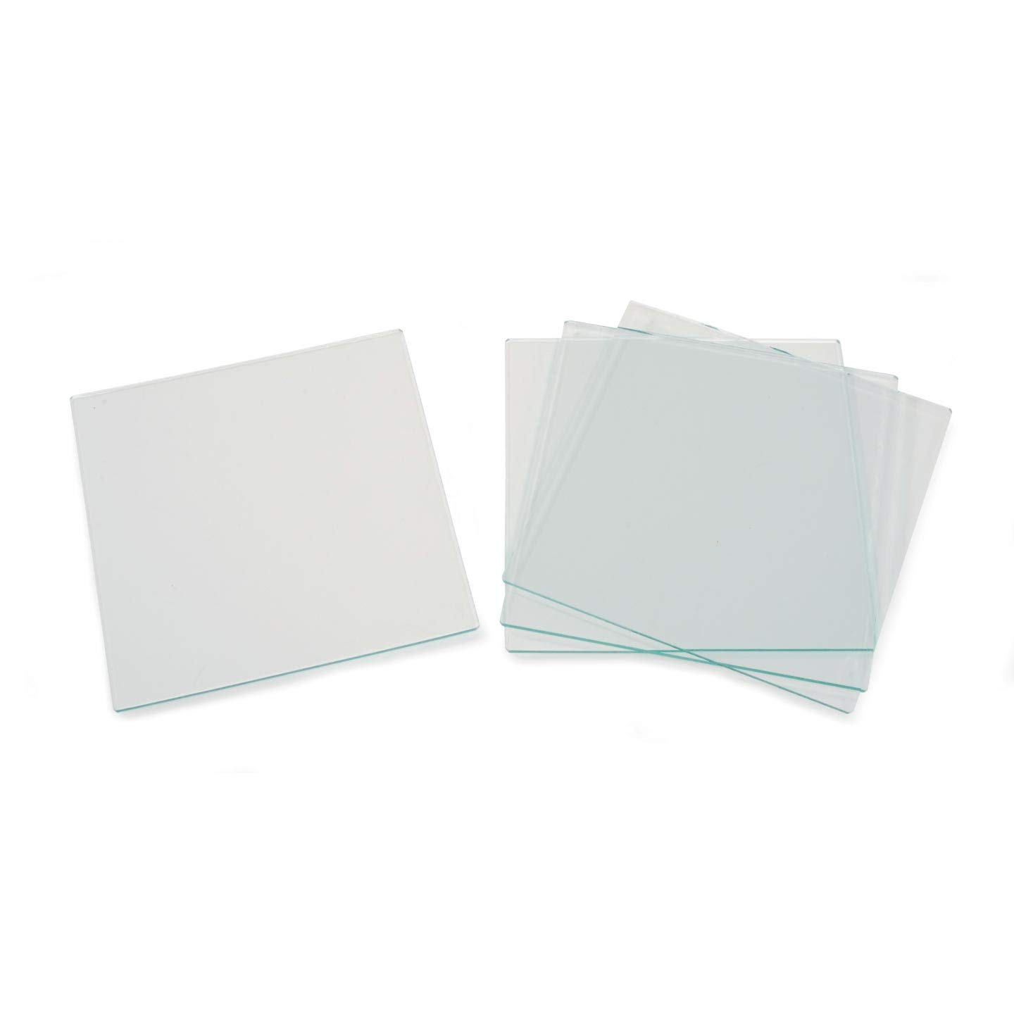 Bulk Buy: Darice DIY Crafts Glass Tile Square 4 x 4 inches 4 pieces (6-Pack) 1098-80 Inc.