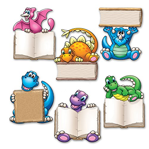 """Edupress EP-2653 Dino Readers Accents, 3"""" Wide, 4"""" Length, 0.5"""" Height (36 Pieces per Package)"""