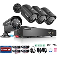 ANNKE 5-in-1 16-Channel 1080N H.264+ Video Security Camera System and (4) 1.3MP 960P Outdoor IP66 Weatherproof Metal Housing CCTV Camera, Easy Remote Access, Email Alert with Images, Smart Playback