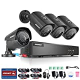 ANNKE 8CH HD-TVI 1080P Lite Security DVR System with 4x 960P Indoor/Outdoor Weatherproof Cameras with IR Night Vision LEDs, Email Alert with Images, NO HDD
