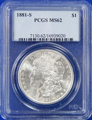 188 S Morgan Dollar PCGS MS62