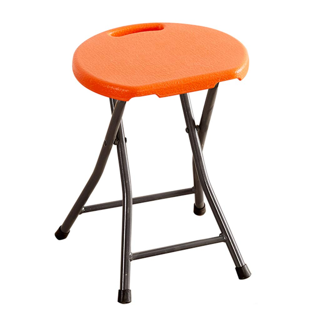 orange ZHAOYONGLI Folding Stool Folding Step Mazza Portable Stool Mazar shoes Stool Footstool Step Stool Adjustable Foot Rest Collapsible Simple Household Portable Small Bench Multifunction Household Creative
