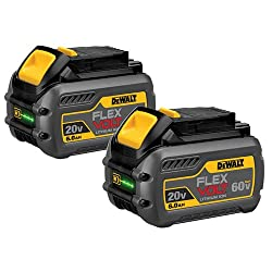 Dewalt Dcb606-2 20v Max 6.0ah Lithium Ion Premium Battery, 2 Pack