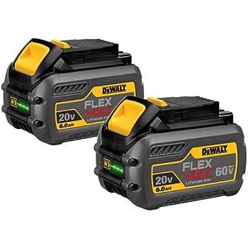 DEWALT 20V MAX XR 20V Battery, 5.0-Ah, 2-Pack (DCB205-2 ...
