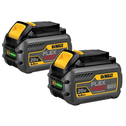 Dewalt Batteries Two Pack - DEWALT DCB606-2 20V MAX 6.0Ah Lithium Ion Premium Battery, 2 Pack