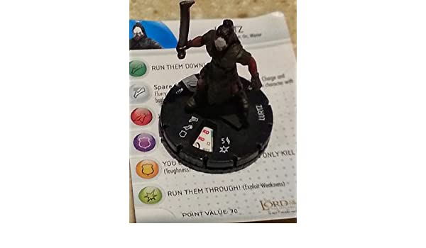Amazon.com : LOTR Heroclix The Lord of the Rings Fellowship of the Ring Lurtz gravity feed : Other Products : Everything Else