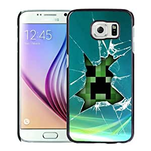 Lovely And Durable Custom Designed Case For Samsung Galaxy S6 With Minecraft 08 Black Phone Case