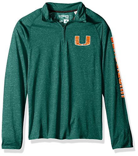 adidas Adult Men White Noise Casual Ultimate 1/4 Zip Tee, Dark Green Heathered, X-Large