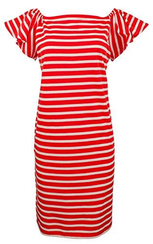 Lauren by Ralph Lauren Women's Medium Striped Shirt Dress Red M