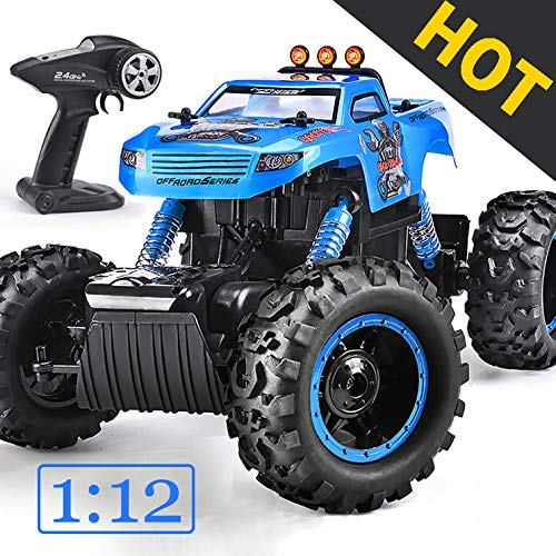 NQD Remote Control Trucks Monster RC Car 1: 12 Scale Off Road Vehicle 2.4Ghz Radio Remote Control Car 4WD High Speed Racing All Terrain Climbing Car Gift for Boys (Best 1 18 Rc Truck 2019)