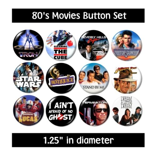 80's Movies Buttons (set #3) for $<!--$9.99-->