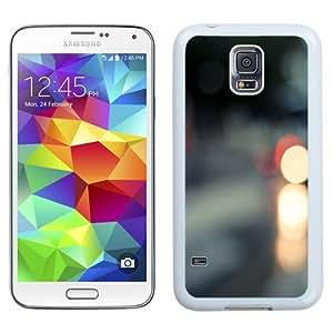 NEW Unique Custom Designed Samsung Galaxy S5 I9600 G900a G900v G900p G900t G900w Phone Case With Traffic Stop Lights Blur_White Phone Case