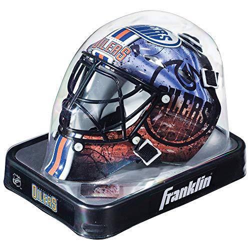 Franklin Sports NHL League Logo Edmonton Oilers Mini Goalie Mask - Oilers Mini Helmet