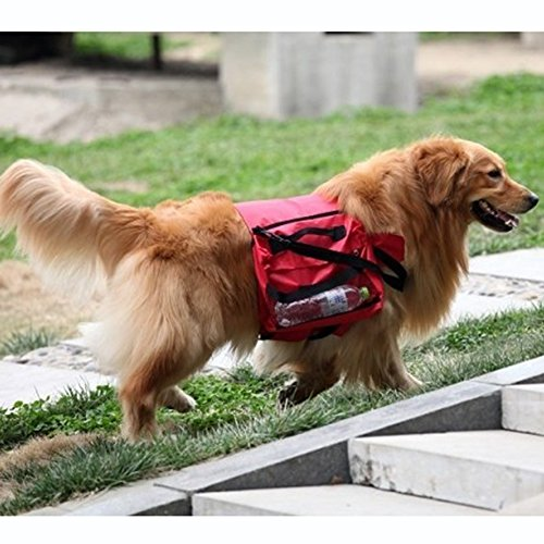 sxbest 1 Pack Large Dog Bag Saddle Backpack for Outdoor Hiking Camping Training travling Pet Carrier Product Snack Bag by zswellgo (Image #2)