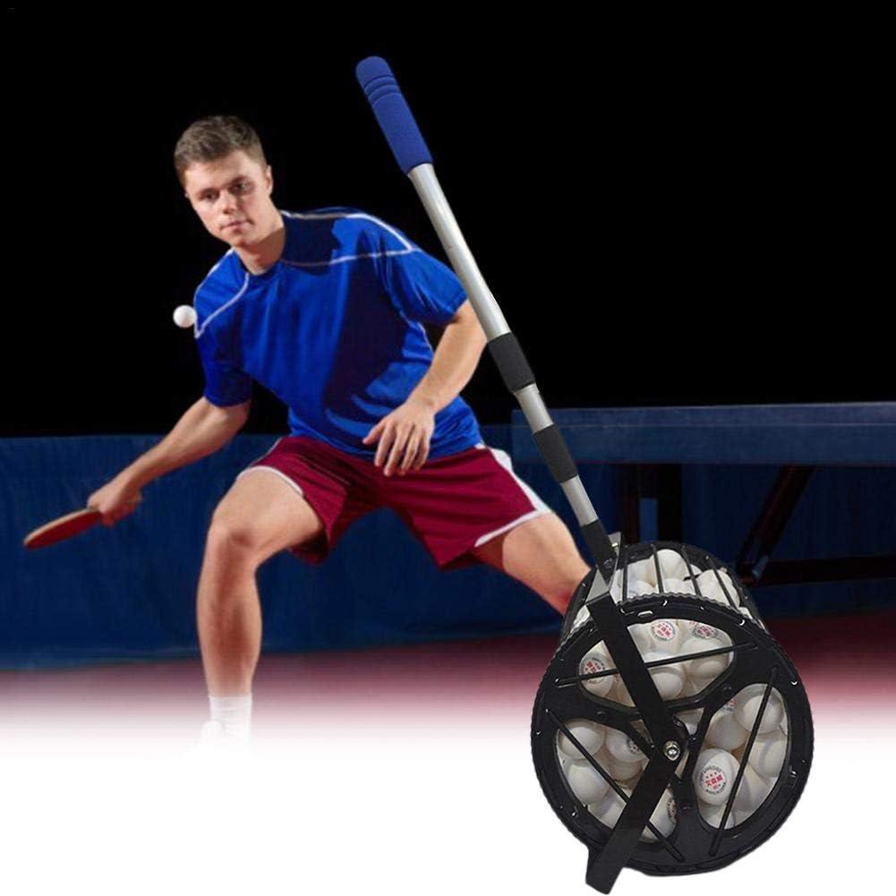 yingmu Ball Collector Picker Pick Up Net Tennis Ball Collector Ayuda hasta 125 Equipos de Tenis de Mesa para Entrenamiento Deportivo de Pelota