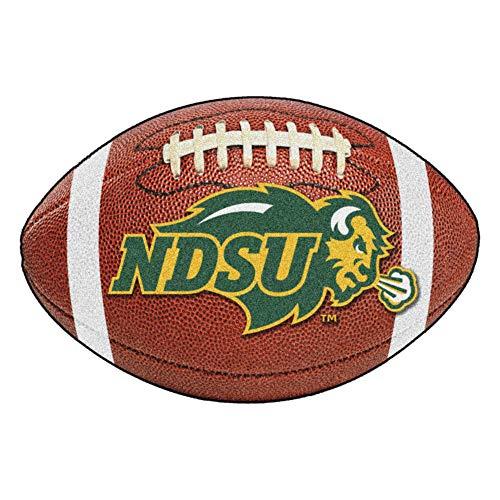 FANMATS NCAA North Dakota State University Bison Nylon Face Football Rug