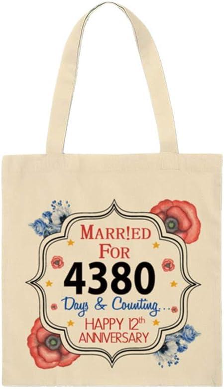 Wevow Bolsa de la compra de algodón ecológica con diseño de casado ...
