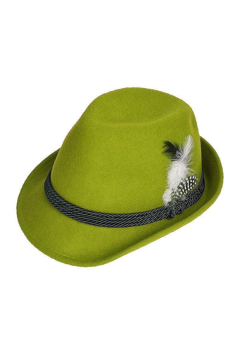 Faustmann Hüte Damen Damen Trachtenhut mit Feder apfelgrün, apfelgrün, apfelgrün 55 243B 0