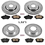 Power Stop K912 Front and Rear Z23 Evolution Brake Kit with Drilled/Slotted Rotors and Ceramic Brake Pads