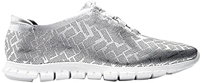 Cole Haan Women's Zerogrand Genevieve PERF Trainer, CH Argento Perforated Leather/Optic White, 6.5 B US