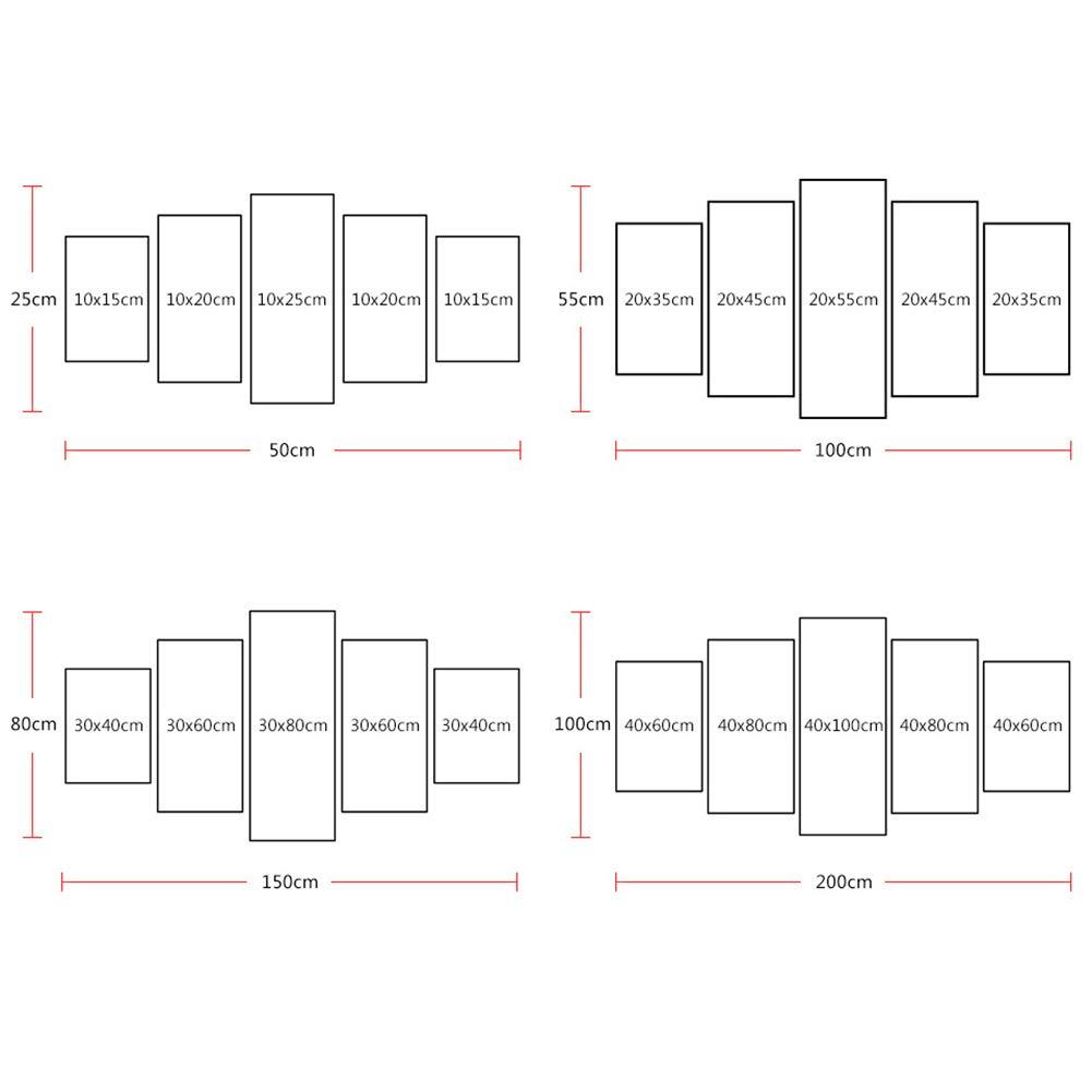 SXMXO Impresi/ón Cuadro En Lienzo Caligraf/ía del Islam del Cor/án Composici/ón De 5 Piezas Cuadros Moderno HD P/óster para Pared Decoraci/ón,Frameless,A,10x15*210x20*210x25*1