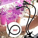 LED Grow Light for Indoor Plant,360° Gooseneck