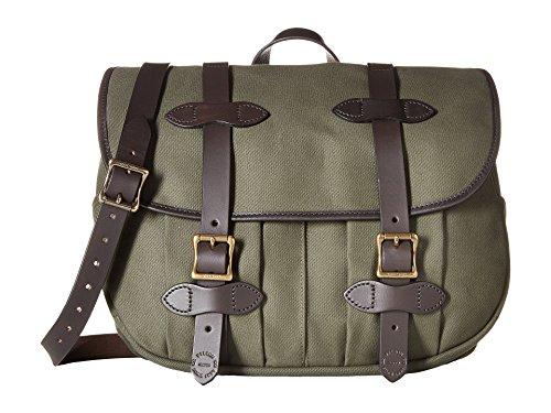 Filson Unisex Medium Field Bag Otter Green 1 One Size (Waxed Canvas Messenger Bag Made In Usa)