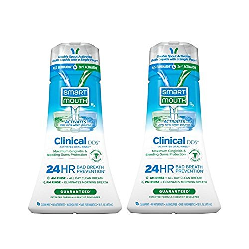 SmartMouth Clinical DDS (Gum & Plaque) Oral Rinse 2, Mint, 16 Fluid Ounce - 2 Pack