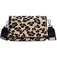 DENER❤️ Women Ladies Shoulder Crossbody Bag Handbags,Suede Leopard Print Designer Bags Satchel Bags Messenger Bag