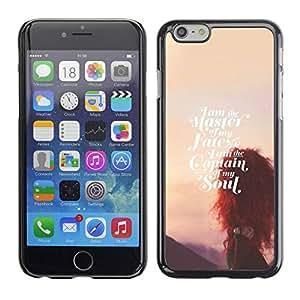 TopCaseStore / la caja del caucho duro de la cubierta de protección de la piel - Fate Soul Sunset Inspirational - Apple iPhone 6