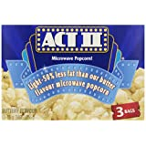 ACT II Light Butter Microwave Popcorn, 3 Pack Snack Size (Pack of 12)