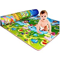 Home Crust Waterproof, Anti Skid, Double Sided Baby Crawling Play Mat (Green, 6x4ft)