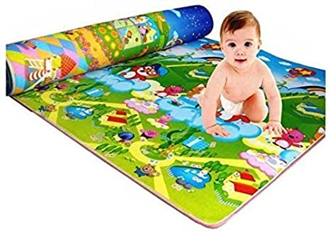 Buy Home Crust Waterproof, Anti Skid, Double Sided Baby Crawling Play Mat  (Green, 6x4ft) Online at Low Prices in India - Amazon.in