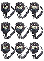 Fomatrade pack of 10pcs/lot Digital Handheld Multi-function Professional Electronic Chronograph Sports Stopwat