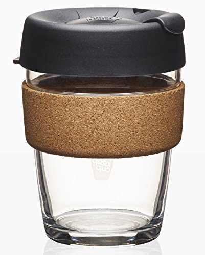 KeepCup Brew Glass Reusable Coffee Cup, 12 oz, Espresso (Coffee Brown Cups Glass)