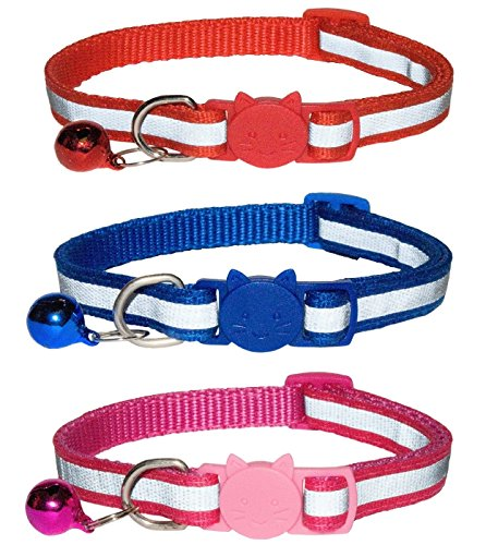 ZACAL Reflective Cat Collars with Bell, Quick Release Safety