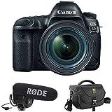 Canon EOS 5D Mark IV DSLR Camera with 24-70mm f/4L Lens plus Rode VideoMic Pro, Rycote Lyre Shockmount and Journey 34 DSLR Shoulder Bag