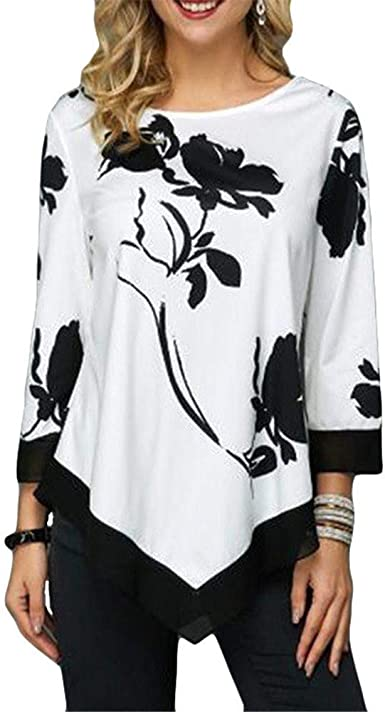 DISCOUNTL - Camiseta de Manga Corta para Mujer, Cuello ...