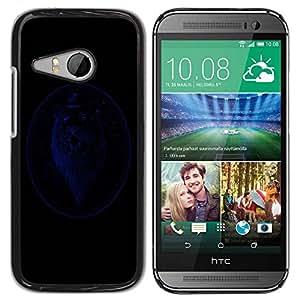 Carcasa Funda Prima Delgada SLIM Casa Case Bandera Cover Shell para HTC ONE MINI 2 / M8 MINI / Business Style Blue Gentleman Lion