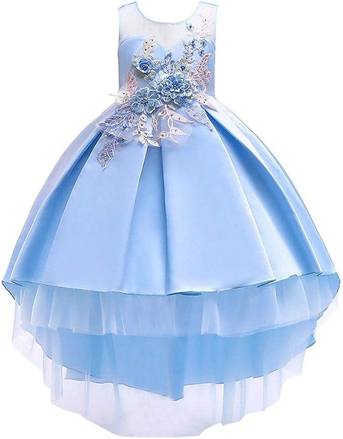 Mädchen Kinder Einhorn Sommer Kleid Minikleid Prinzessin Abendkleid Partykleid